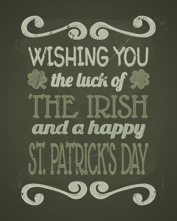 Cool typographic design for St. Patrick's Day. Vector