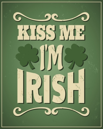 irish symbols: Cool typographic design for St. Patricks Day.