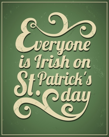 Cool typographic design for St. Patricks Day. Vector