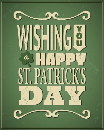 lucky day: Cool typographic design for St. Patricks Day.