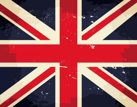 bandiera inghilterra: Vintage bandiera Union Jack. Vettoriali