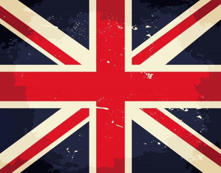 Vintage Union Jack flag. Stock Vector - 18156345
