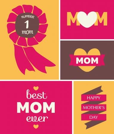 母亲节的贺卡设计。