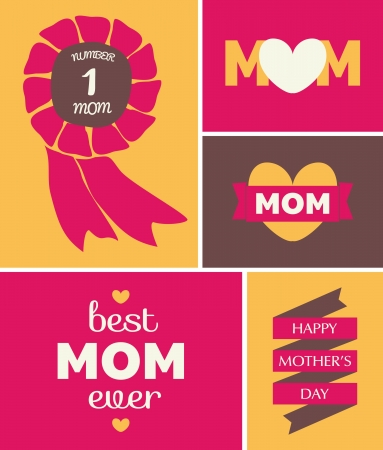 Greeting card design for Mothers Day. Vector