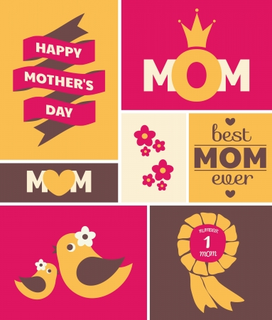 mother days: Greeting card design for Mothers Day.