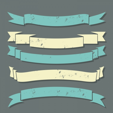 A set of grunge banners in pastel colors. Stock Vector - 18420253