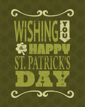 st  patrick's: Cool typographic design for St. Patricks Day.