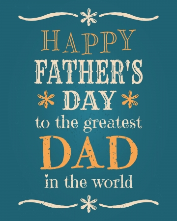 father s day: Greeting card template for Father s day Illustration