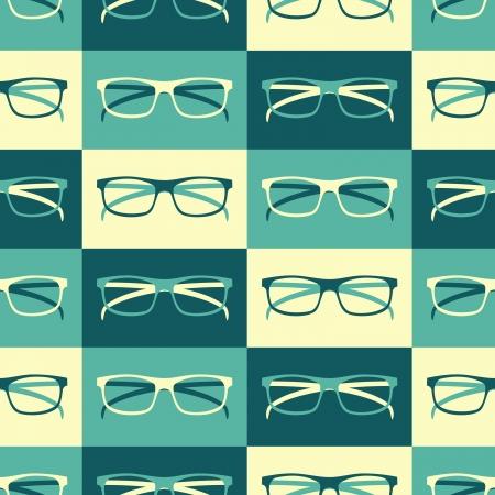 Patrón sin fisuras con anteojos retro
