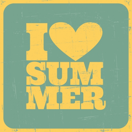 Grungy summer poster  Summer vacations concept  Vector