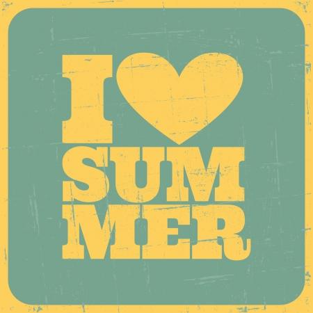 summer: Sujo cartaz Verão verão conceito Ilustração