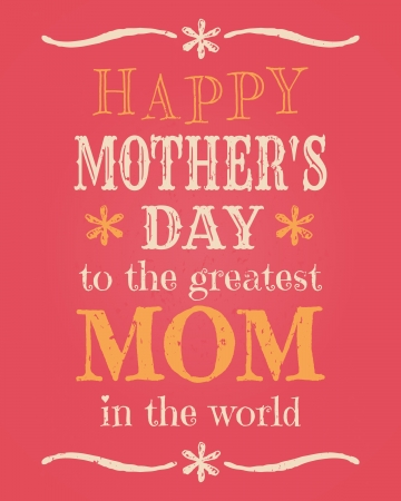 mothers day: Greeting card template for Mother s Day Illustration