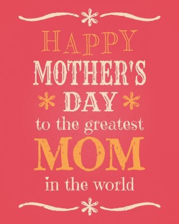 d�a s: Plantilla de tarjeta de felicitaci�n para el D�a de la Madre s Vectores