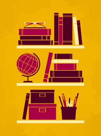 Retro style office poster  Vector