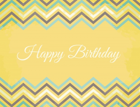 Vintage Birthday greeting card with chevron decoration Stock Vector - 18979863