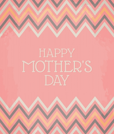 Vintage Mother s Day Card Vector