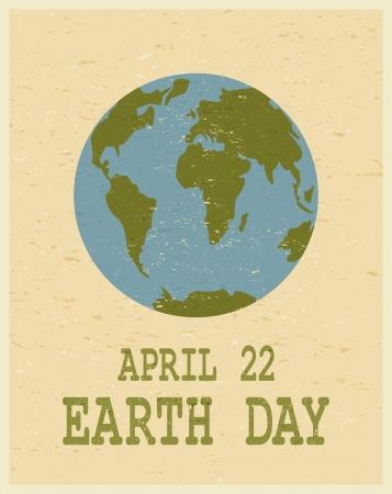 planete terre: Recyclé affiche de la Journée de la Terre papier