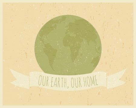Recycled paper Earth Day poster Stock Vector - 18979869