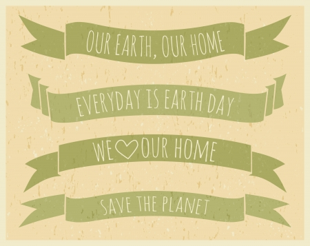 Recycled paper Earth Day banners Stock Vector - 18979865