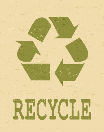 Cool Earth Day poster with recycle symbol  Vector