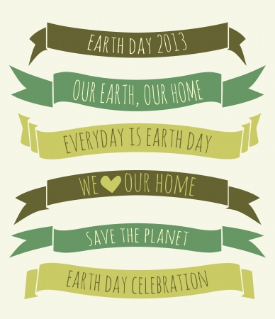 A set of green banners for Earth Day  Vector