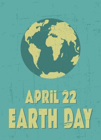 Grungy Earth Day poster  Stock Vector - 19047004