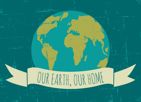 our: Vintage Earth Day poster  Illustration