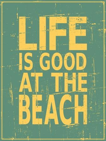 BEACH: Vintage style beach poster