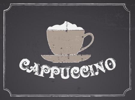 capuchino: Pizarra dise�o cappuccino cartel