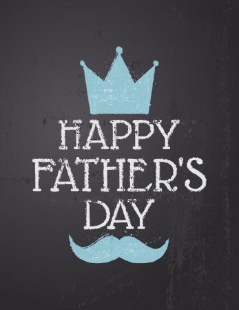 padres: Diseño Pizarra tarjeta de felicitación para el Día del Padre s