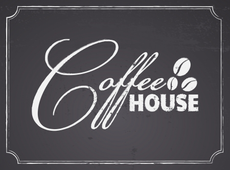 Chalkboard style coffee house design  Vector