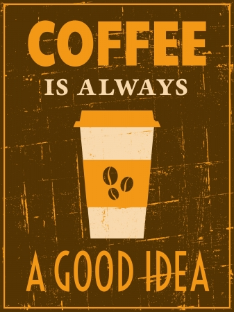 scratch card: Vintage style coffee poster