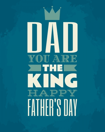 father: Greeting card template for Father s Day  Illustration