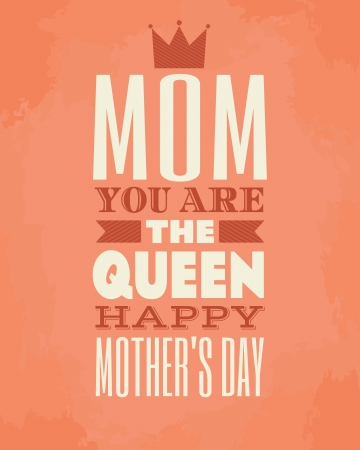 mothers day: Greeting card template for Mother s Day