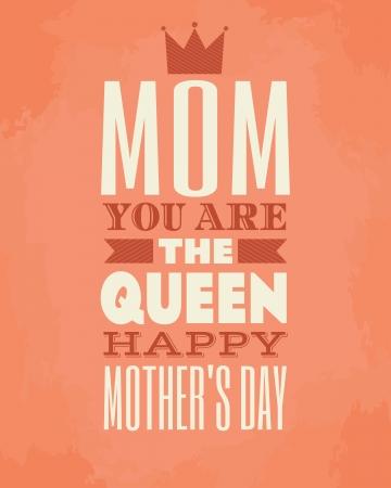Wenskaartsjabloon voor Mother's Day