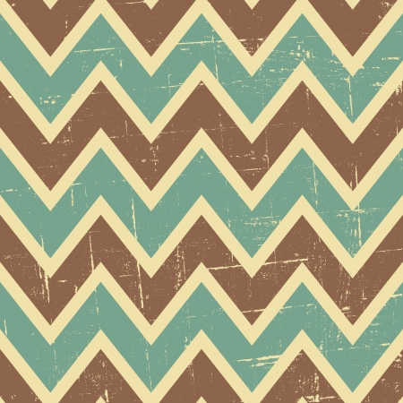 Seamless chevron pattern in blue, brown and beige  Vector