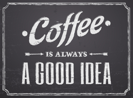 cafeterias: Chalkboard design coffee poster