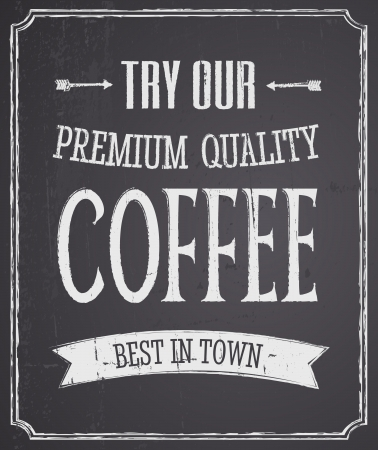 Chalkboard design coffee poster  Vector