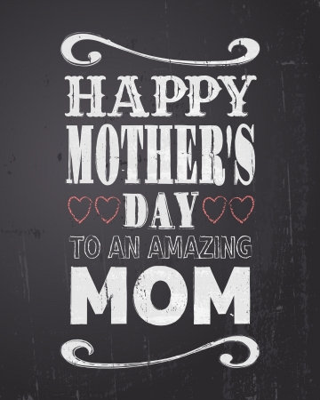 mother day: Chalkboard style greeting card for Mother s Day