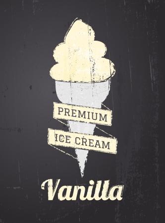 gelato: Chalkboard style ice cream poster