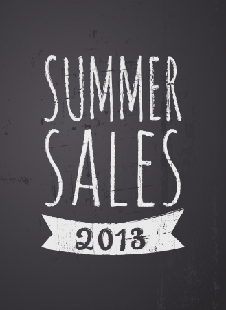 Chalkboard design summer sales poster. Stock Vector - 19855954