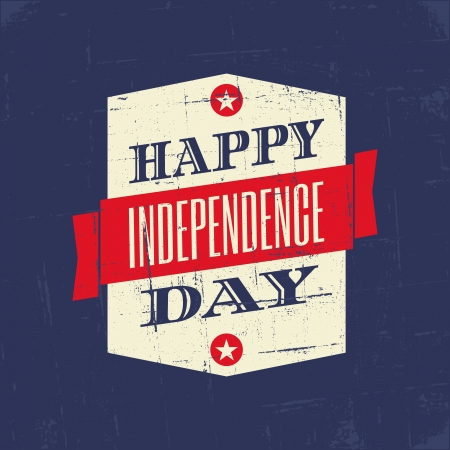 Grungy poster voor de Amerikaanse Independence Day