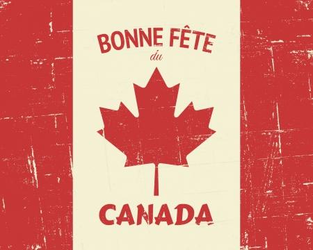 """frances: """"Feliz Día de Canadá"""" diseño francés de tarjetas de felicitación. Vectores"""
