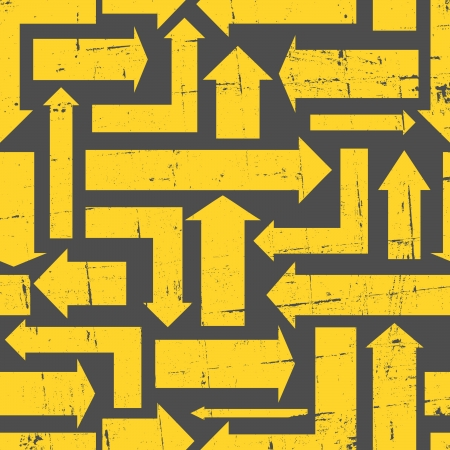 tilable: Abstract seamless pattern with yellow arrows. Illustration