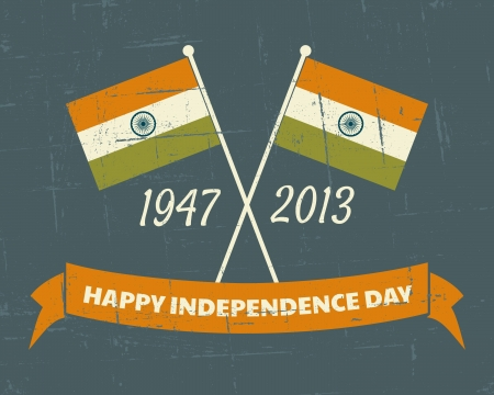 festive background: Greeting card design for the Indian Independence Day