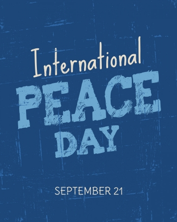 scratches: Vintage typographic design for the International Day of Peace
