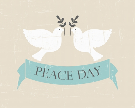 Vintage poster for the International Day of Peace Illustration