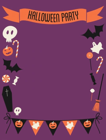 Halloween party invitation with copy-space. Stock Vector - 21306187