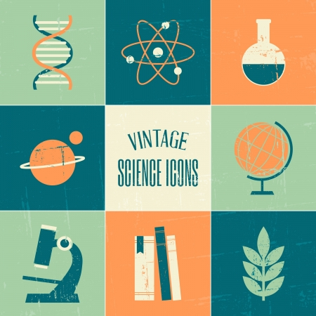 A set of vintage style science and education symbols. Stock Vector - 21306197