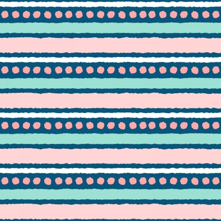 Seamless ethnic pattern in pastel pink an blue. Vector